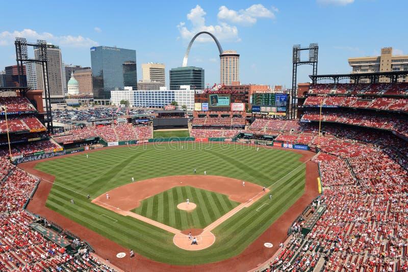 Estadio de Busch en St. Louis fotos de archivo libres de regalías