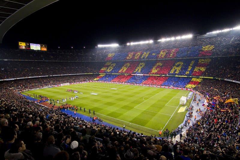 Estadio de Camp Nou fotografía de archivo libre de regalías