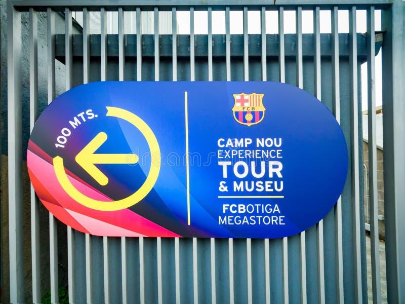 Estadio de Camp Nou del club del fútbol de Barcelona imágenes de archivo libres de regalías