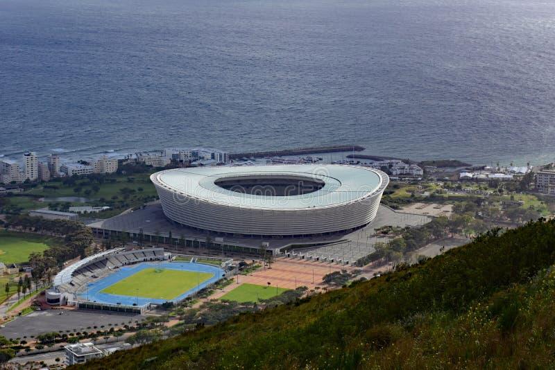 Estadio de Cape Town, Cape Town, Suráfrica foto de archivo libre de regalías