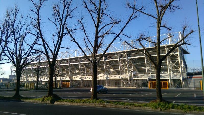 Estadio de Crémona, vista lateral externa foto de archivo libre de regalías