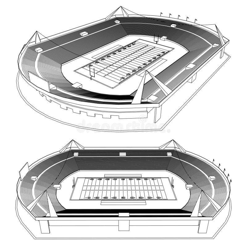 Estadio de fútbol americano ilustración del vector