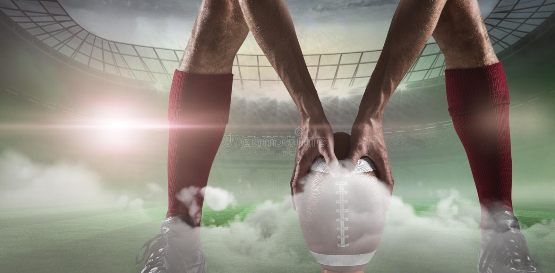 Estadio de fútbol brumoso debajo de proyectores libre illustration