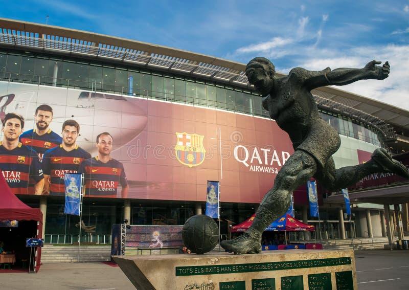 Estadio de fútbol de Barcelona foto de archivo libre de regalías