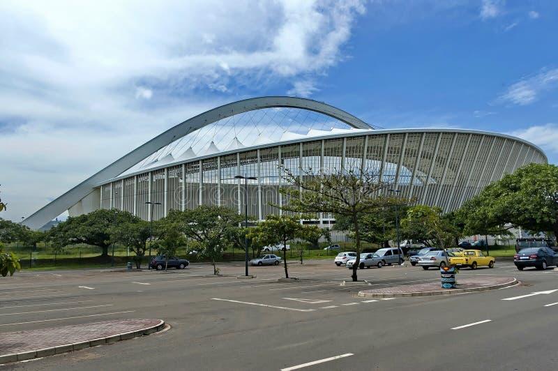 Estadio de fútbol de Moses Mabhida en Durban fotografía de archivo libre de regalías
