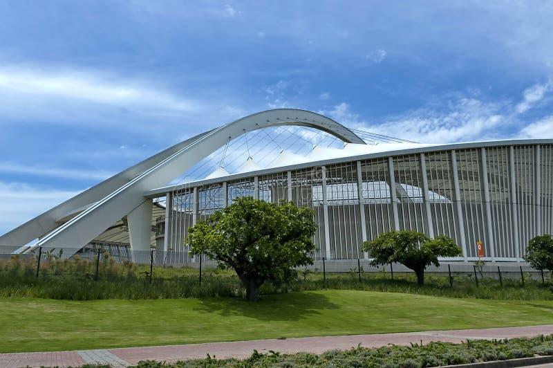 Estadio de fútbol de Moses Mabhida en Durban imagen de archivo