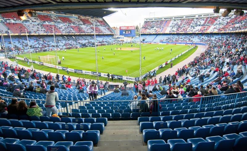 Estadio de fútbol de Vicente Calderon, Madrid imágenes de archivo libres de regalías