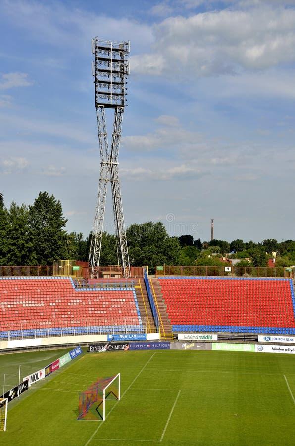 Estadio de fútbol de Videoton fotografía de archivo libre de regalías