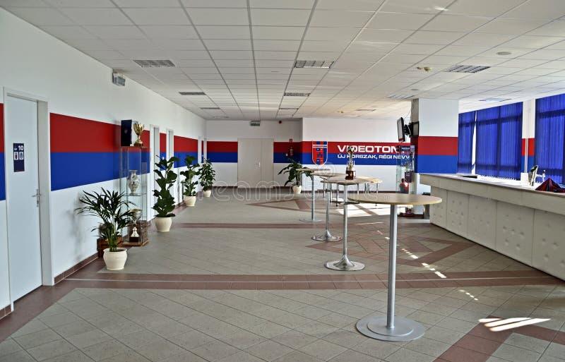Estadio de fútbol de Videoton dentro del sitio principal fotografía de archivo libre de regalías