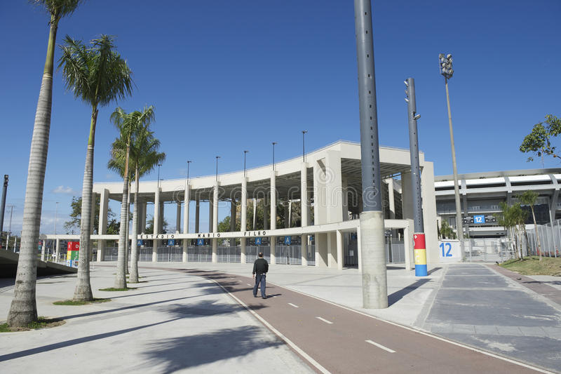 Estadio de fútbol del fútbol de Maracana Rio Brazil foto de archivo