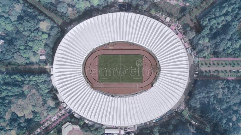 Estadio de fútbol en Jakarta céntrica imagen de archivo