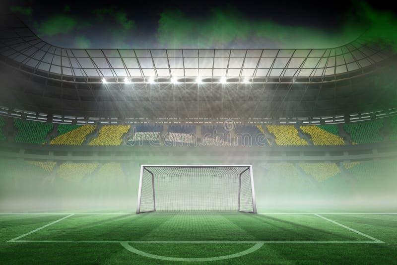 Estadio de fútbol extenso para el mundial ilustración del vector