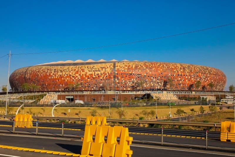 Estadio de fútbol de FNB en Soweto imagen de archivo libre de regalías