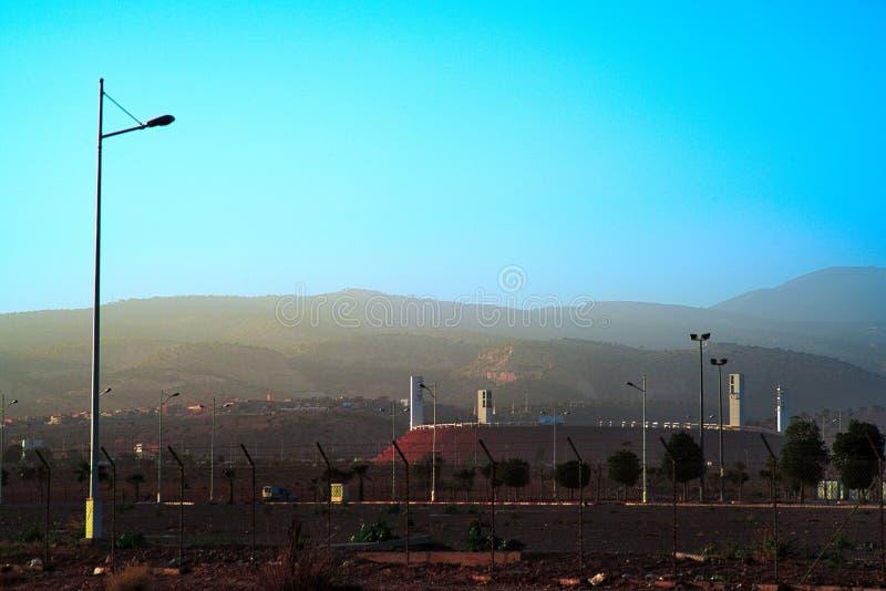 Estadio de fútbol moderno de Agadir Adrar imagen de archivo libre de regalías