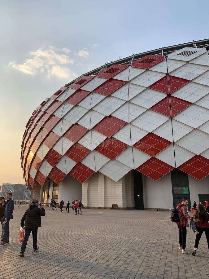 Estadio de fútbol Spartak imagen de archivo
