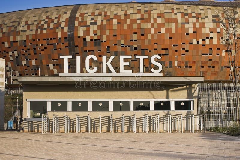 Estadio de FNB - cabina de boleto imagenes de archivo