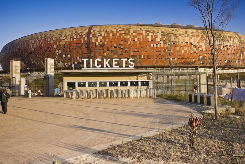 Estadio de FNB - cabina de boleto imagen de archivo libre de regalías