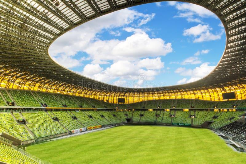 Estadio de Gdansk de la arena para el euro 2012 imagenes de archivo