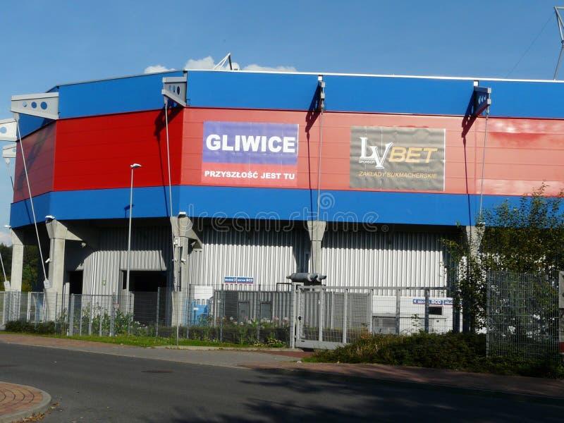 Estadio de GLIWICE, SILESIA, Polonia-Piast en Gliwice foto de archivo libre de regalías