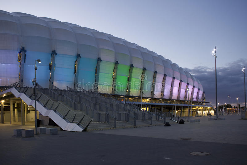 Estadio de Inea en Poznán Euro 2012, Polonia de la UEFA del torneo del estadio fotografía de archivo libre de regalías