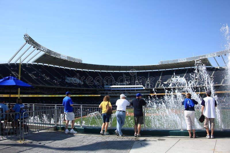 Estadio de Kauffman - Kansas City Royals imagenes de archivo