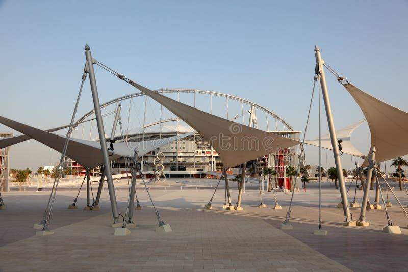 Estadio de Khalifa en Doha, Qata imagen de archivo libre de regalías