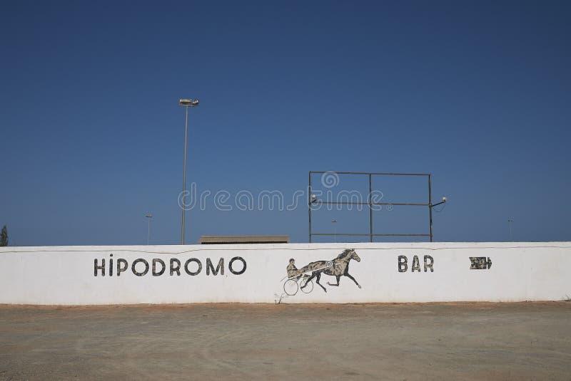 Estadio de la carrera de caballos fotos de archivo libres de regalías