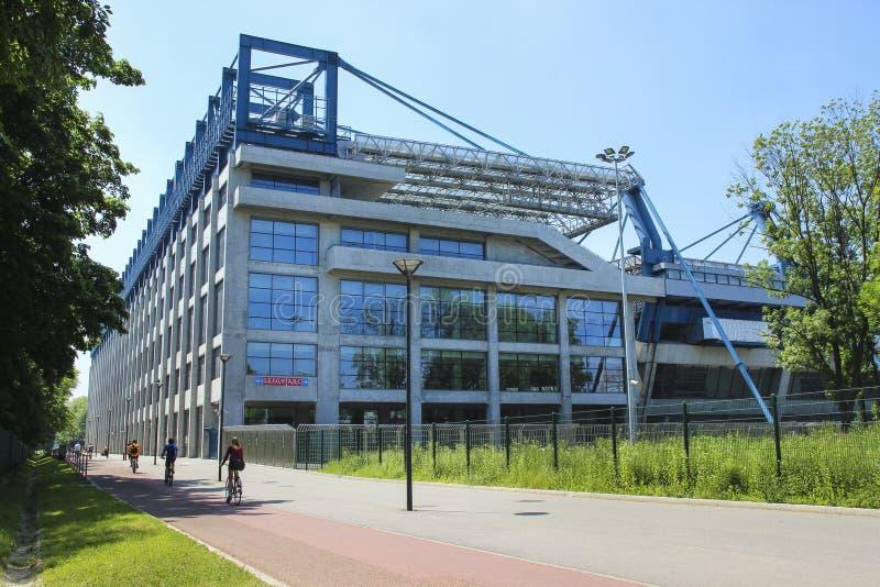 Estadio de la ciudad de KRAKÓW, POLONIA de Vístula Kraków imágenes de archivo libres de regalías