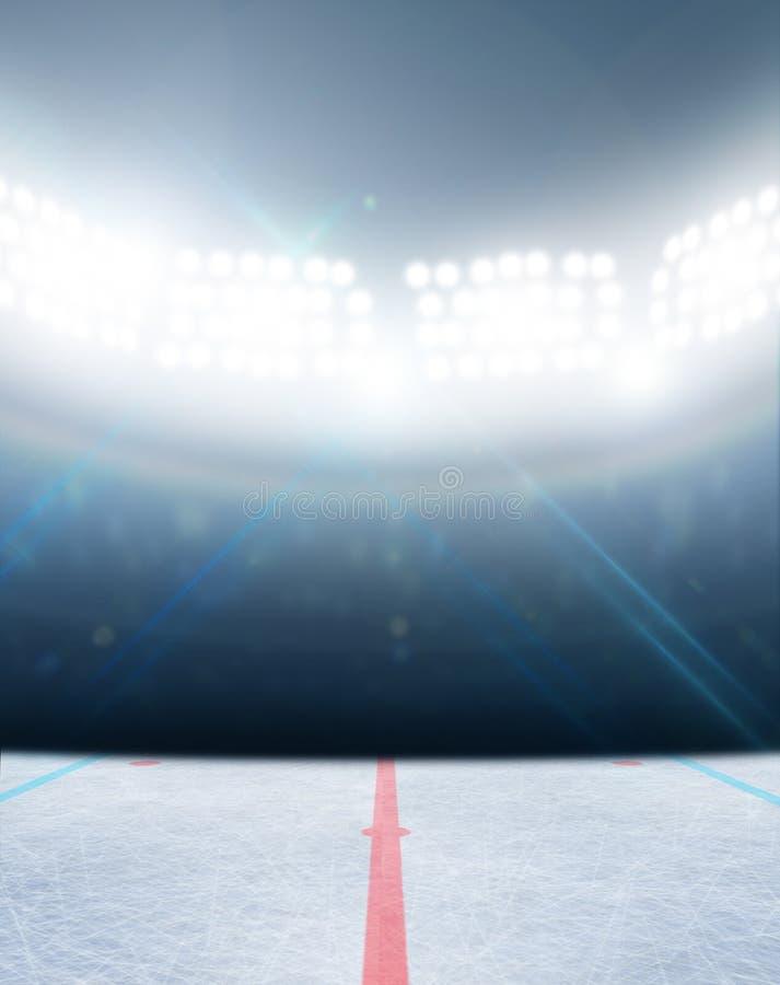 Estadio de la pista de hockey sobre hielo imagen de archivo