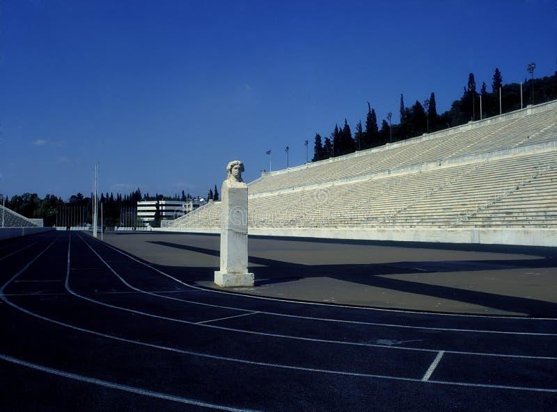 Estadio de mármol en Atenas fotos de archivo libres de regalías