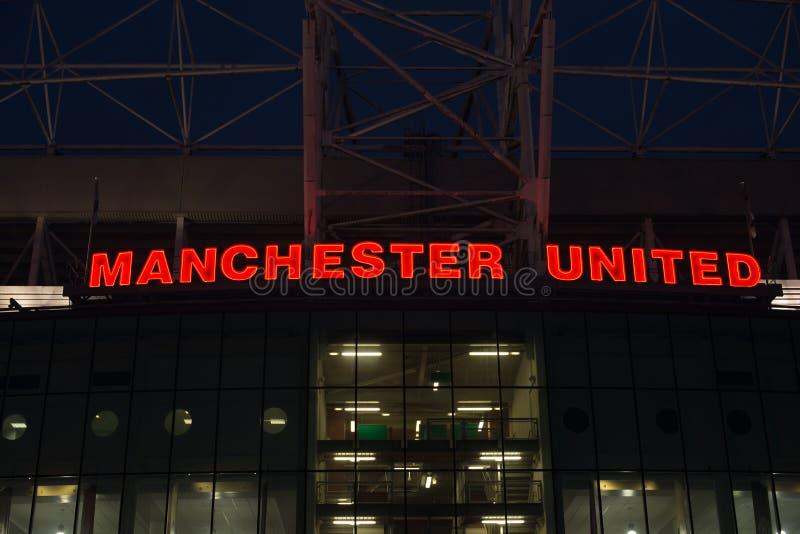 Estadio de Manchester United fotografía de archivo libre de regalías