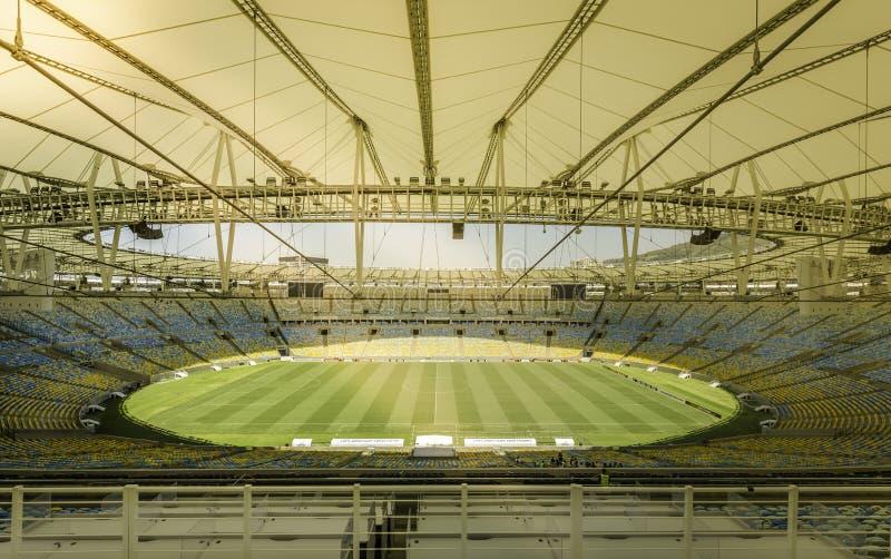 Estadio de Maracana en Rio de Janeiro, el Brasil foto de archivo