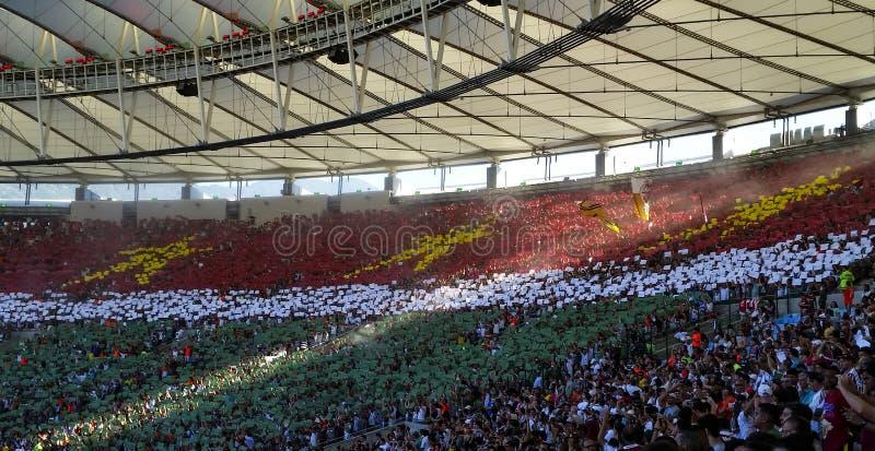 Estadio de Maracana, juego Fluminense y Vasco imagen de archivo libre de regalías