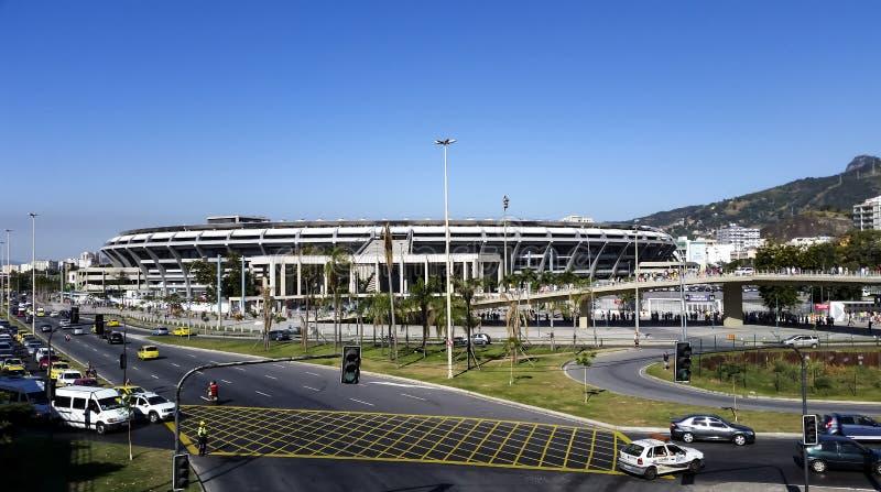 Estadio de Maracana, juego Fluminense y Vasco fotografía de archivo libre de regalías