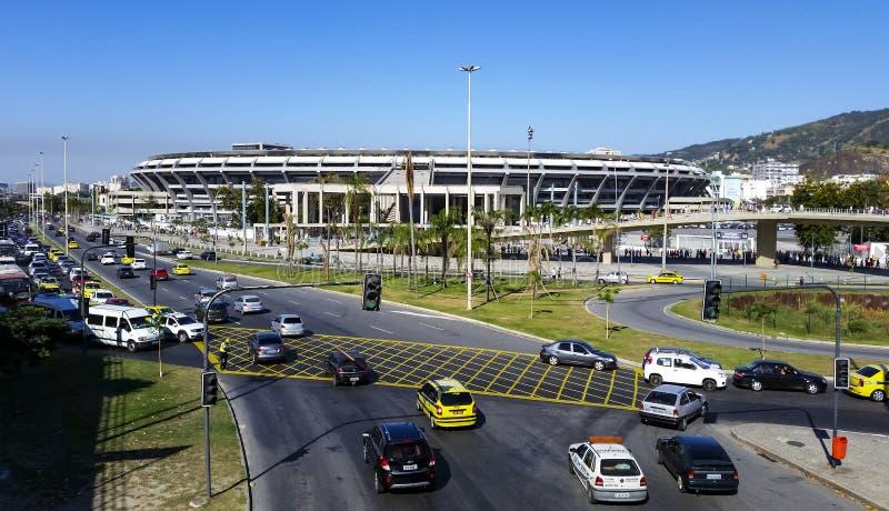 Estadio de Maracana, juego Fluminense y Vasco fotografía de archivo