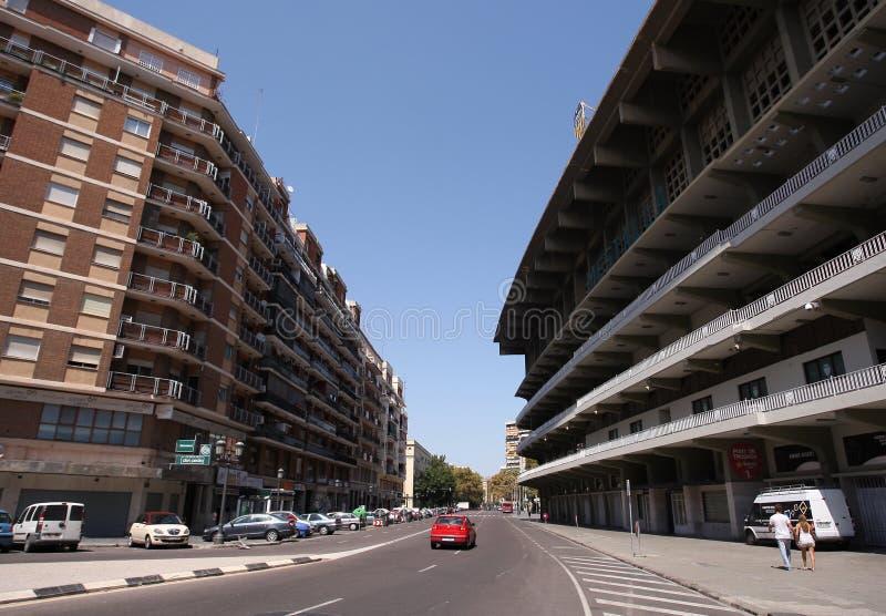 Estadio de Mestalla imagenes de archivo