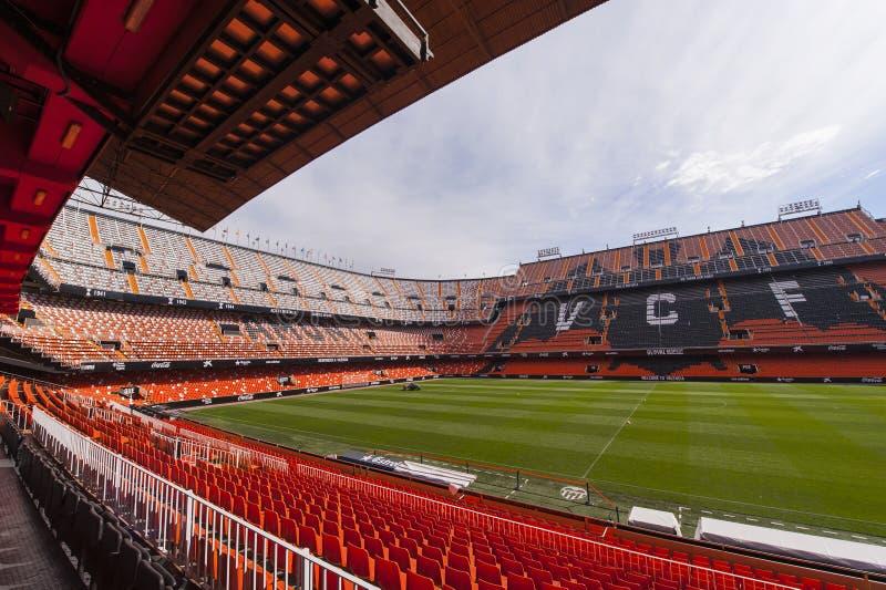 Estadio de Mestalla fotos de archivo