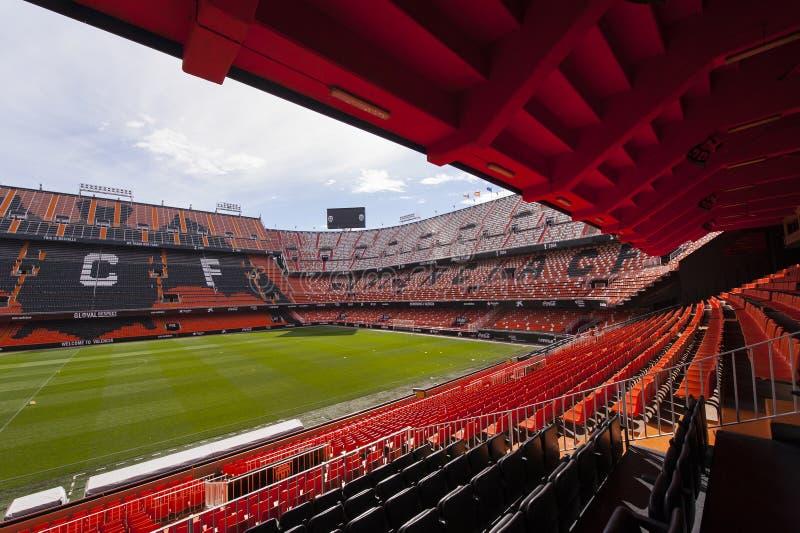 Estadio de Mestalla imagen de archivo libre de regalías