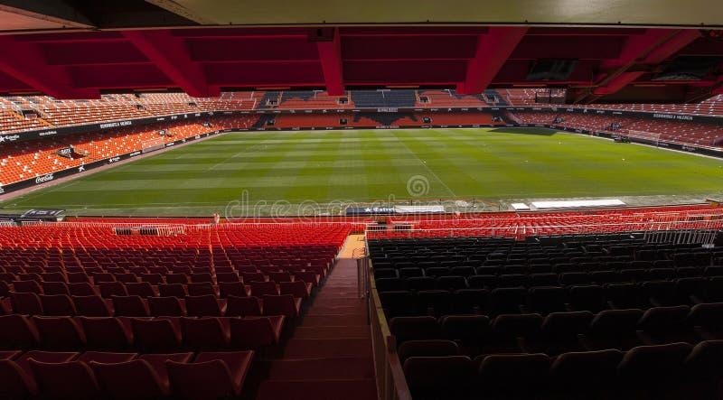 Estadio de Mestalla imagen de archivo