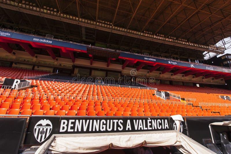 Estadio de Mestalla fotos de archivo libres de regalías