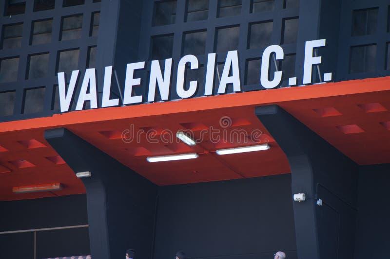 Estadio de Mestalla foto de archivo libre de regalías