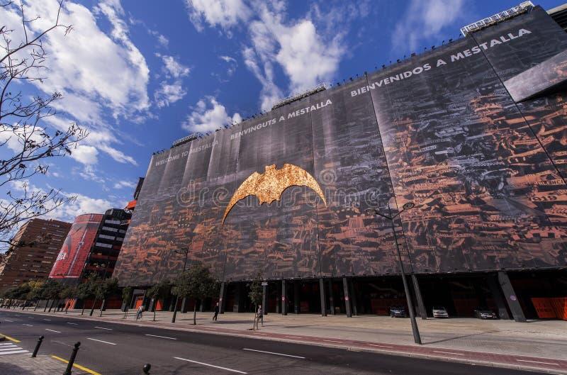 Estadio de Mestalla imágenes de archivo libres de regalías