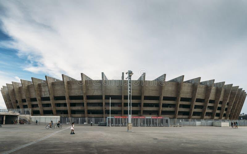 Estadio de Mineirao en Belo Horizonte, el Brasil fotos de archivo