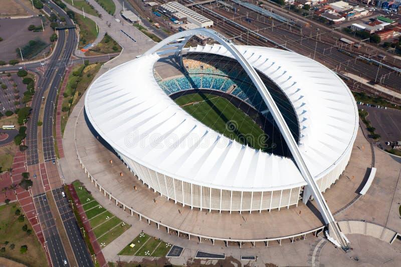 Estadio de Moses Mabhida foto de archivo libre de regalías