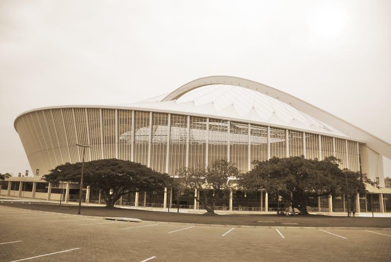Estadio de Moses Mabhida imagen de archivo