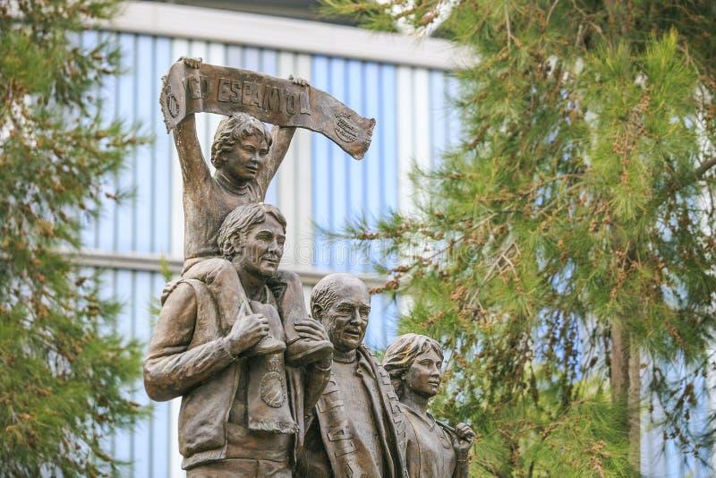Estadio de RCDE Espanyol localizado en Cornella de llobregat El único imagen de archivo libre de regalías