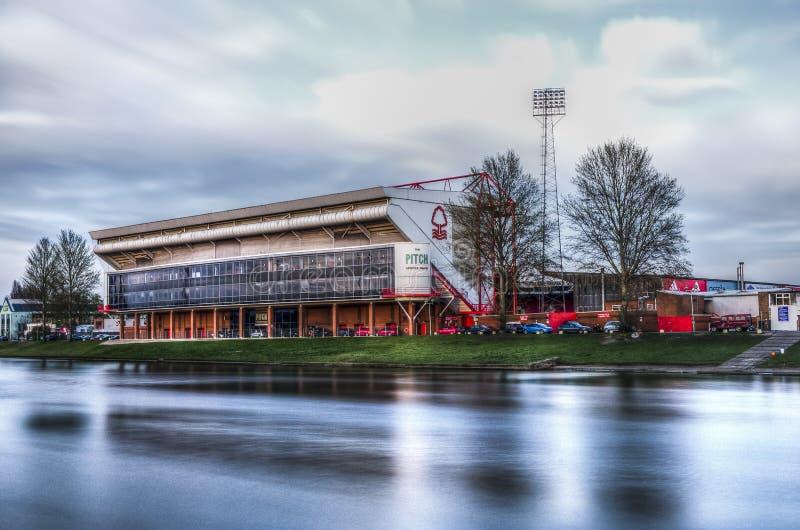 Estadio de tierra de la ciudad, Nottingham fotografía de archivo