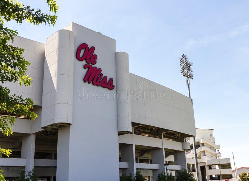 Estadio de Vaught-Hemingway en Ole Miss imagen de archivo
