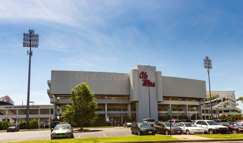 Estadio de Vaught-Hemmingway en Ole Miss fotos de archivo