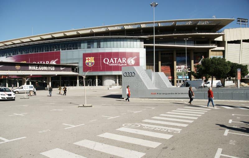 Estadio del campo de Nou en Barcelona imágenes de archivo libres de regalías